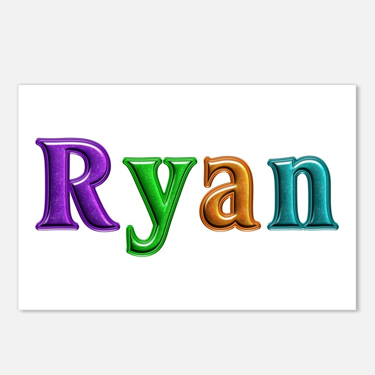 Ryan Shiny Colors Postcards 8 Pack