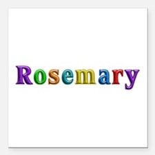 Rosemary Shiny Colors Square Car Magnet