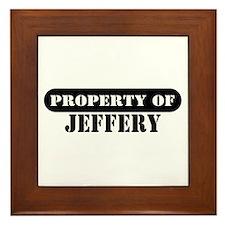 Property of Jeffery Framed Tile