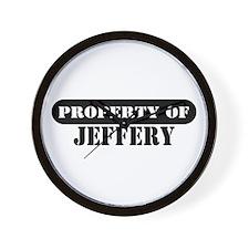Property of Jeffery Wall Clock