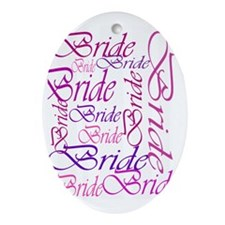 Bride to be pink print Oval Ornament