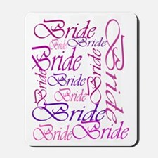 Bride to be pink print Mousepad
