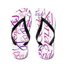Bride to be pink print Flip Flops