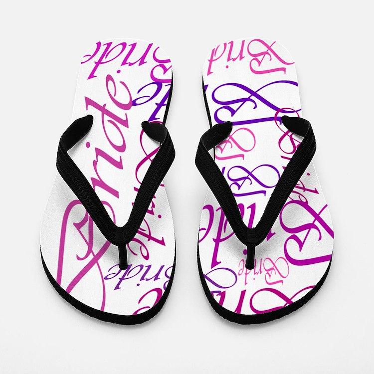 Bride to be pink print Flip Flops
