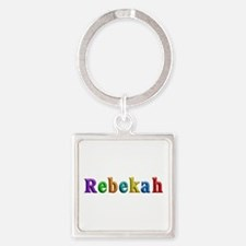Rebekah Shiny Colors Square Keychain