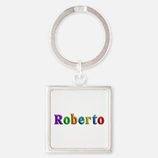 Roberto Shiny Colors Square Keychain