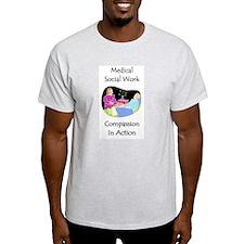 Medical Social Work Ash Grey T-Shirt