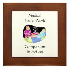 Medical Social Work Framed Tile
