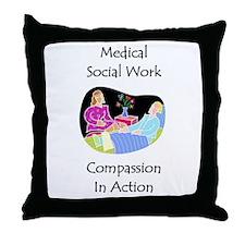 Medical Social Work Throw Pillow