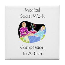Medical Social Work Tile Coaster