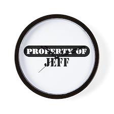 Property of Jeff Wall Clock