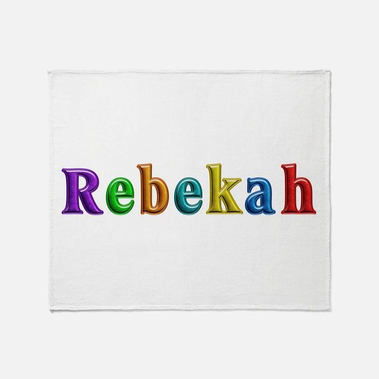 Rebekah Shiny Colors Throw Blanket