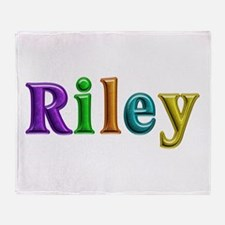 Riley Shiny Colors Throw Blanket