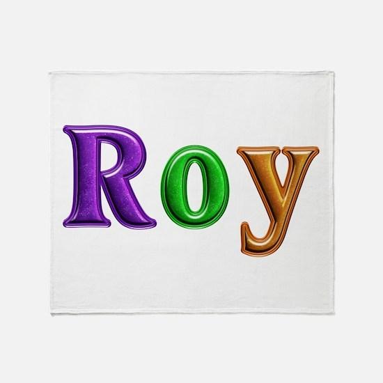Roy Shiny Colors Throw Blanket