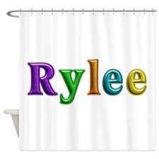 Rylee Shiny Colors Shower Curtain