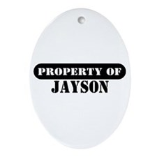 Property of Jayson Oval Ornament