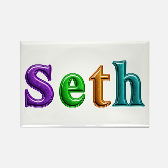 Seth Shiny Colors Rectangle Magnet