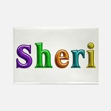 Sheri Shiny Colors Rectangle Magnet