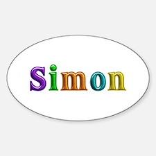 Simon Shiny Colors Oval Decal