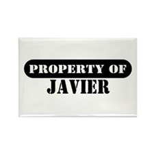 Property of Javier Rectangle Magnet