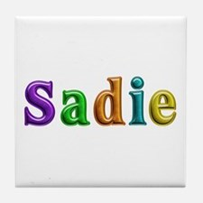 Sadie Shiny Colors Tile Coaster