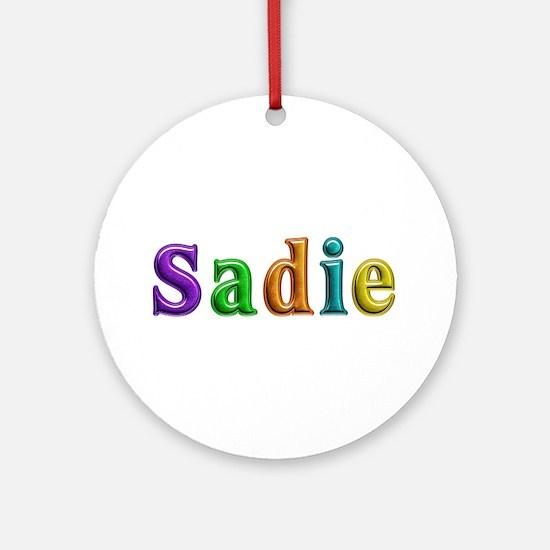 Sadie Shiny Colors Round Ornament