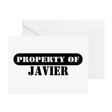 Property of Javier Greeting Cards (Pk of 10)