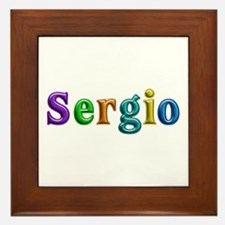 Sergio Shiny Colors Framed Tile