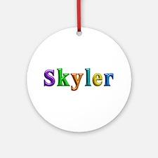 Skyler Shiny Colors Round Ornament