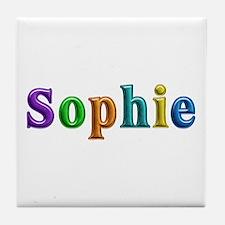 Sophie Shiny Colors Tile Coaster