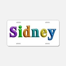 Sidney Shiny Colors Aluminum License Plate