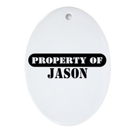 Property of Jason Oval Ornament
