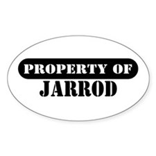 Property of Jarrod Oval Decal