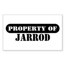 Property of Jarrod Rectangle Decal