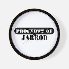 Property of Jarrod Wall Clock