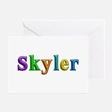 Skyler Shiny Colors Greeting Card