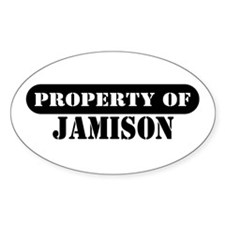 Property of Jamison Oval Decal