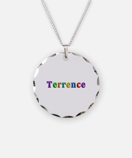 Terrence Shiny Colors Necklace Circle Charm