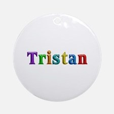 Tristan Shiny Colors Round Ornament