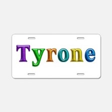 Tyrone Shiny Colors Aluminum License Plate