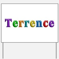 Terrence Shiny Colors Yard Sign