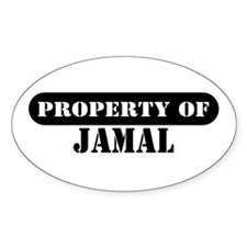 Property of Jamal Oval Decal