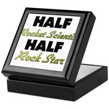 Half Rocket Scientist Half Rock Star Keepsake Box