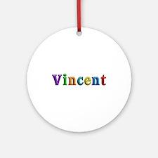 Vincent Shiny Colors Round Ornament