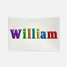 William Shiny Colors Rectangle Magnet