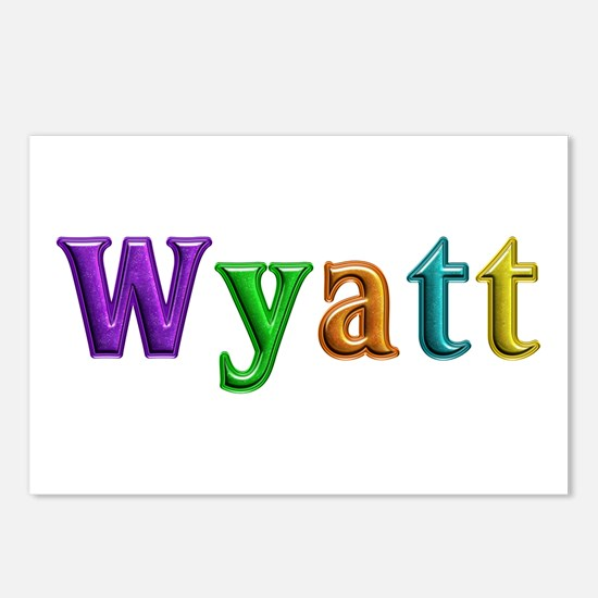 Wyatt Shiny Colors Postcards 8 Pack