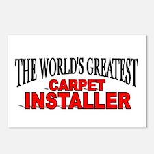 """The World's Greatest Carpet Installer"" Postcards"