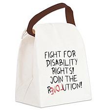 Revolution dark.png Canvas Lunch Bag