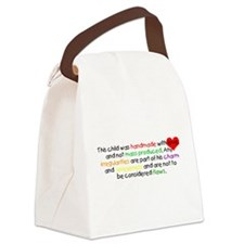 Handmade with love white.png Canvas Lunch Bag