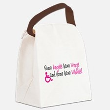 Some Angels Have Wheels Canvas Lunch Bag